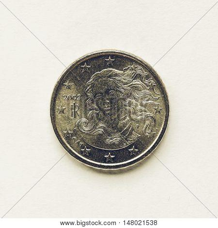 Vintage Italian 10 Cent Coin