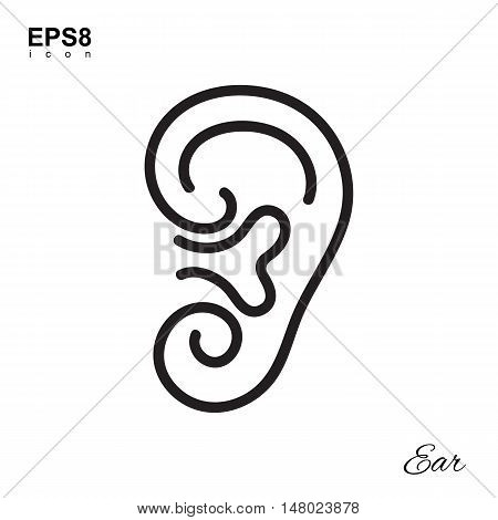 Simple Human Ear Icon