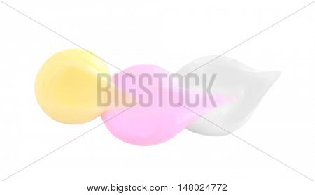 Different kinds of cosmetic cream on light background