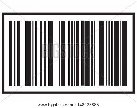 barcode icon Black bar code icon. Symbol about shopping concept.