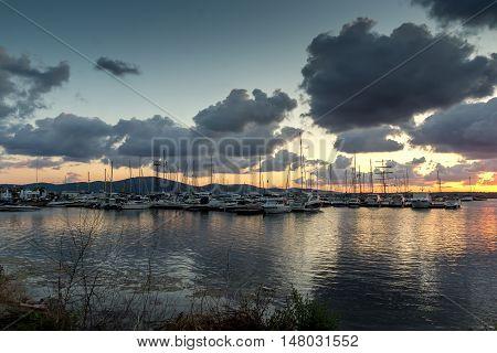 Sunset panorama of st. Ivan island near Sozopol Town, Burgas Region, Bulgaria