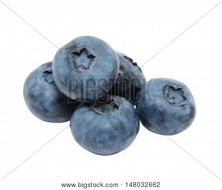 Blueberry heap isolated on the white background