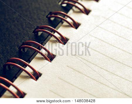 Vintage Looking Blank Notebook Page