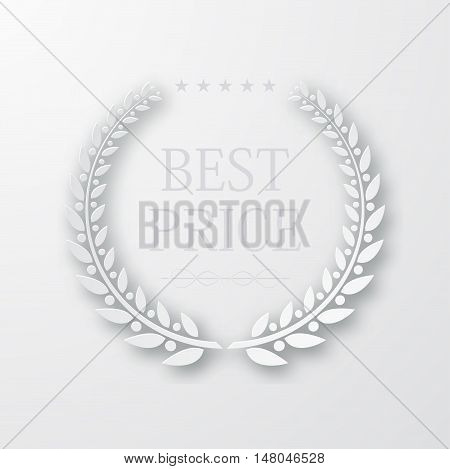 vector laurel wreath with sample text. high quality. Light background