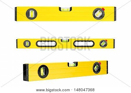 Yellow building level isolated on a white background.