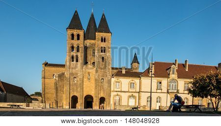 The basilica du Sacre Coeur in Paray-le-Monial France