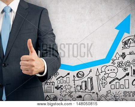 Businessman Happy With His Company Growth