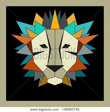 lion logo vector logo lion with crystal manu