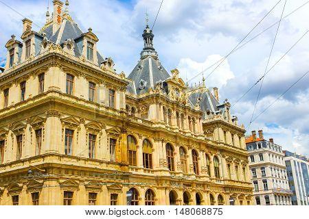 Palais de la Bourse also called Palais du Commerce at Place des Cordelier in Lyon, France