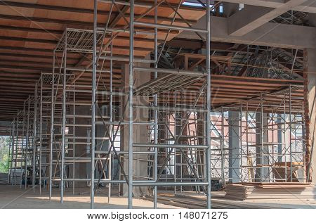 Scaffold Steel Construction Industrial Building Site indoor