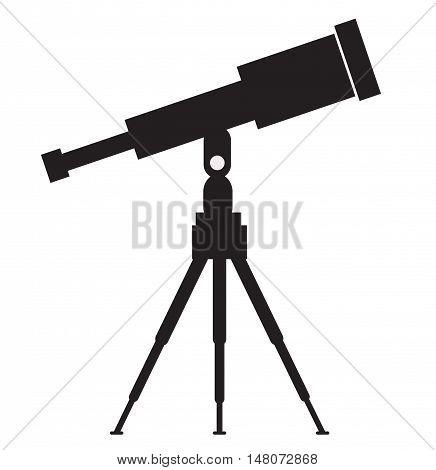 Telescope icon. Vector concept illustration for design.