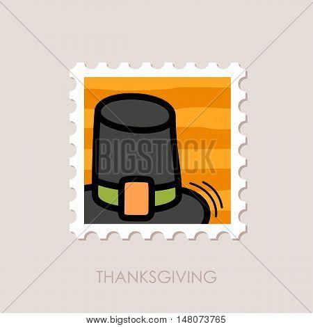 Pilgrim hat stamp. Harvest. Thanksgiving vector illustration eps 10
