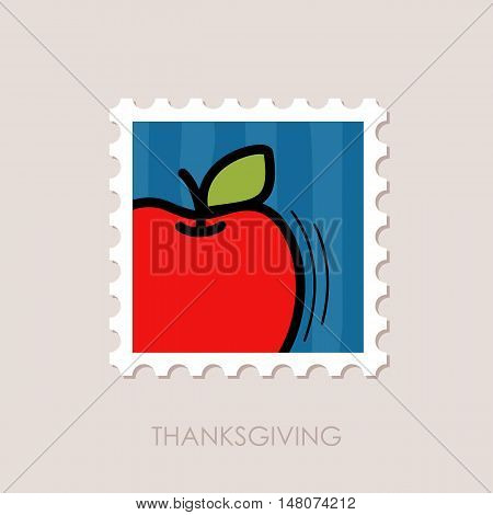 Apple stamp. Harvest. Thanksgiving vector illustration eps 10