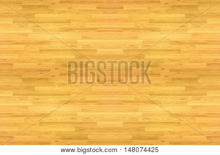 wood floor parquet hardwood maple basketball court floor viewed from above for design texture pattern and background.