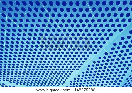 Abstract illustration of blue metal dotted surface