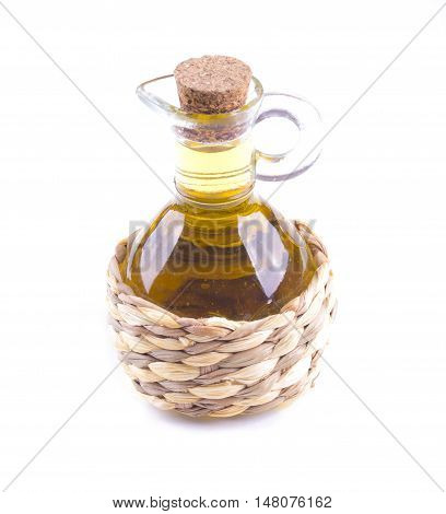 Bottle Of Oil Isolated