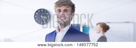Energetic Face Of Business