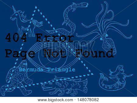 404 error service down unavailable bermuda concept vector illustration