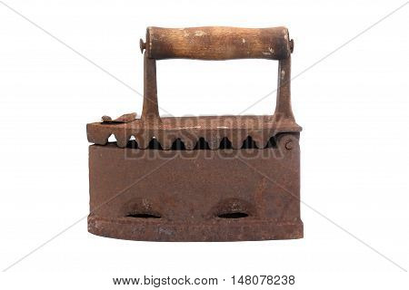 Old rusty iron isolated on white background with clipping path