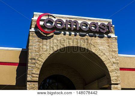 Ft. Wayne - Circa September 2016: Comcast Service Center. Comcast is a multinational mass media company V