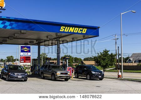 Ft. Wayne - Circa September 2016: Sunoco Retail Gasoline Location. Sunoco is a Subsidiary of Energy Transfer Partners II