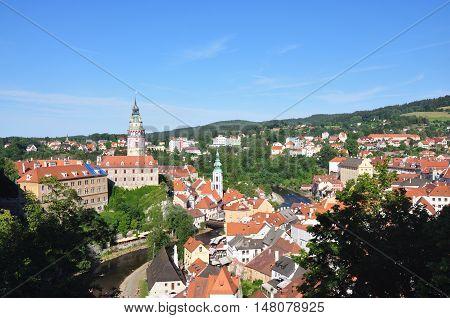 Cesky Krumlov - beutiful old town in south bohemia, Czech republic