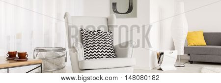White Comfortable Armchair