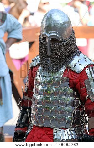 A Medieval Knight Before Battle