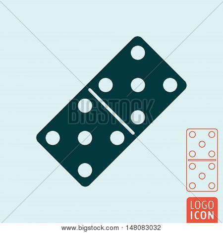Domino bone icon. Dominoes game symbol. Vector illustration