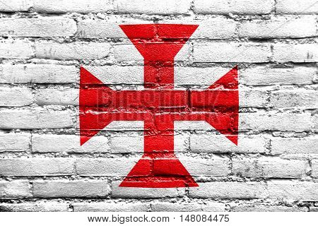 Flag Of Sucre, Bolivia, Painted On Brick Wall