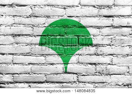Flag Of Tokyo Metropolis (symbol), Japan, Painted On Brick Wall