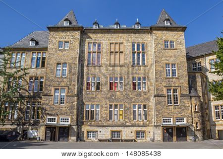 School Building Of The Ratsgymnasium In Bielefeld