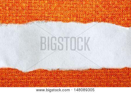 Ragged Piece Of Paper On Orange