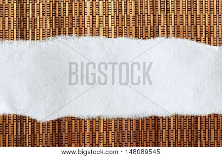Ragged Piece Of Paper On Straw