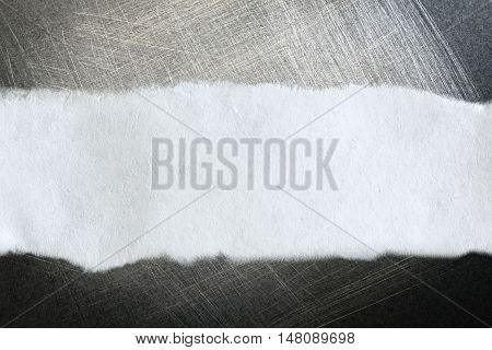 Piece Of Paper On Gray Background