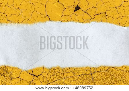 Ragged Piece Of Paper On Cracked Background