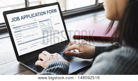 Job Application Form Employment Career Concept