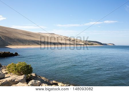Beautiful seascape, dunes on the ocean in France