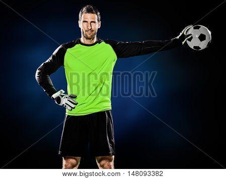 goalkeeper soccer man isolated
