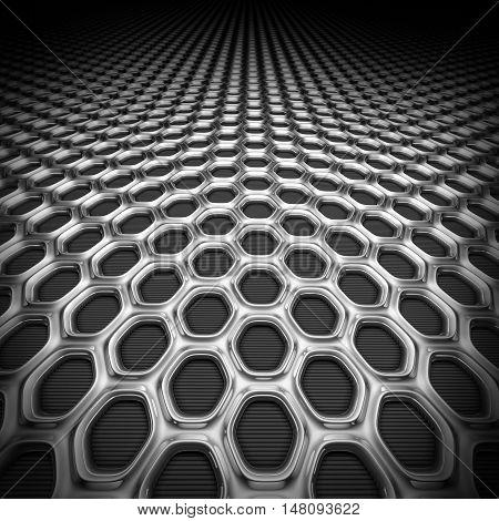 Metallic Honeycomb Grid