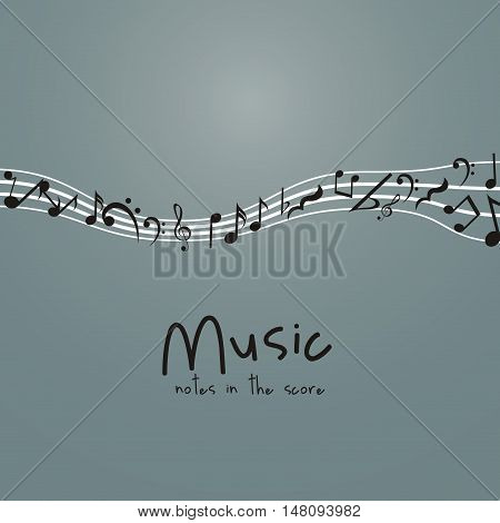Music note icon. Sound melody and musical theme. Isolated design. Vector illustration