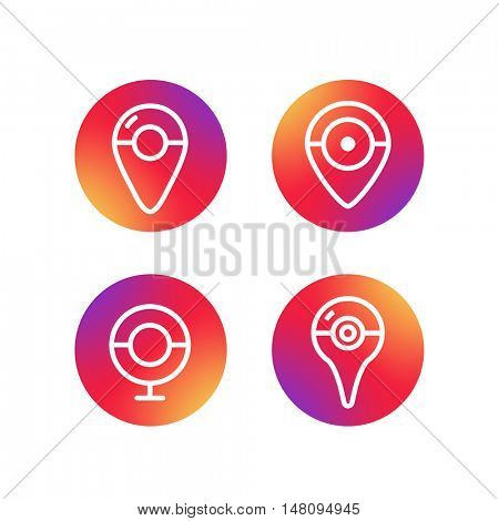 Different simple web navigation pictograms collection. Lineart design application icons