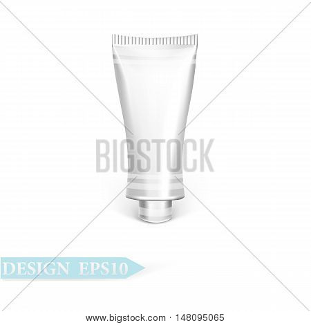 packaging tube beauty silver.  vector  eps10 illustration