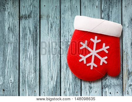 Red Christmas Mitten