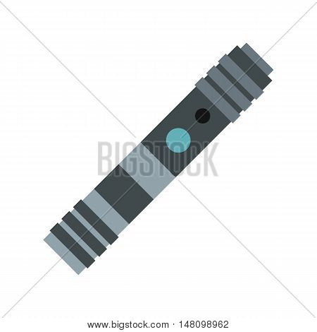 Electronic cigarette icon in flat style on a white background vector illustration