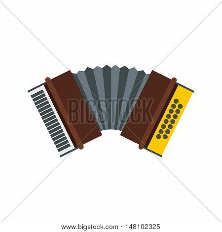 Accordion icon in flat style on a white background vector illustration
