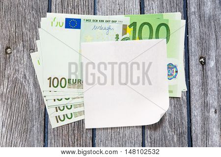 Euro Banknotes And Blank Paper