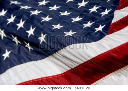 Usa Flag Billowing