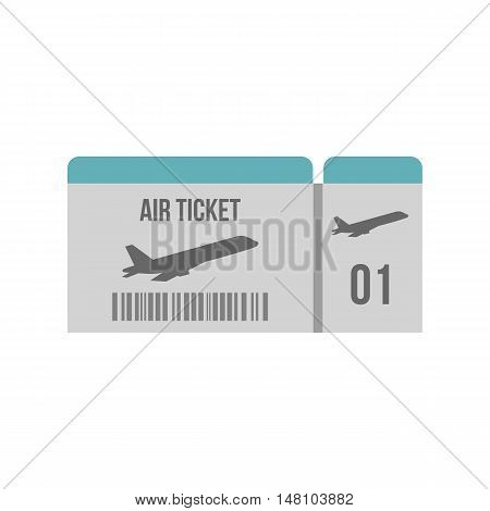 Air ticket icon in flat style on a white background vector illustration