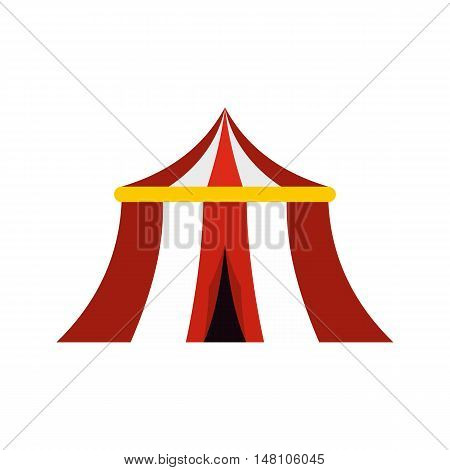 Circus tent icon in flat style on a white background vector illustration